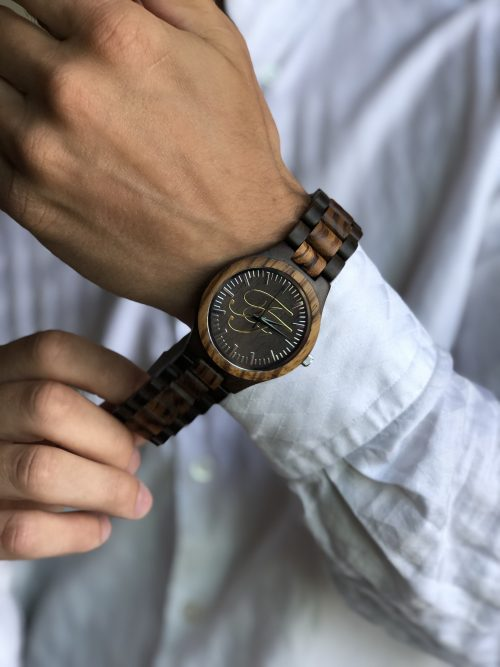 curtis moody wrist fitting wood watch